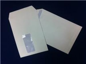 1000 X WHITE C5 ENVELOPES - WITH WINDOW - SELF-SEAL