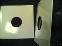 "12"" WHITE GLOSS CARD SPINED ALBUM SLEEVES -FREEDEL"