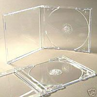 CD CASES COMPLETE WITH CLEAR INSERT TRAYS -FREEDEL