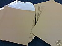 """25 7"""" BROWN RECORD MAILERS AND 35 STIFFENERS"""