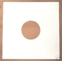 "25 12"" WHITE DISCO BAG CARD RECORD SLEEVES"