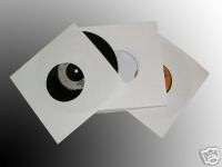 "100 7"" WHITE PAPER RECORD SLEEVES - FREE UK DEL"