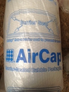 1 ROLL AIRCAP BUBBLE WRAP 500MM X 50M WIDE LARGE BUBBLES + FREE 24H