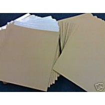"""10 7"""" BROWN RECORD MAILERS AND 15 STIFFENERS"""