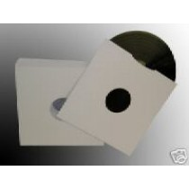 "100 x 10"" WHITE CARD MASTERBAG / RECORD SLEEVES"