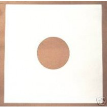 "25 12"" WHITE DISCO BAG CARD RECORD SLEEVES"