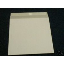"50 x 7"" WHITE 600 MICRON RECORD MAILERS"