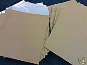 "25 12"" BROWN RECORD MAILERS AND 50 STIFFENERS"