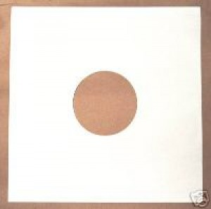 "100 12"" WHITE DISCO BAG CARD RECORD SLEEVES"