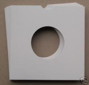 "100 7"" WHITE CARD RECORD SLEEVES - FREE UK DELIVERY"