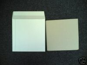 "25 7"" WHITE RECORD MAILERS AND 35 STIFFENERS"
