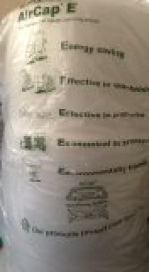 1 ROLL AIRCAP BUBBLE WRAP 500MM X 100M WIDE SMALL BUBBLES + FREE 24H