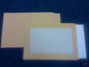 500 C4 PIP BOARD BACKED MANILLA ENVELOPES - FREE UK DELIVERY