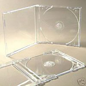 10 CD ALBUM CASES WITH CLEAR TRAYS