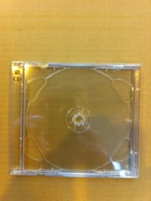 50 CD 'BRILLIANT BOX' DOUBLE CASES+CLEAR INSERT TRAYS