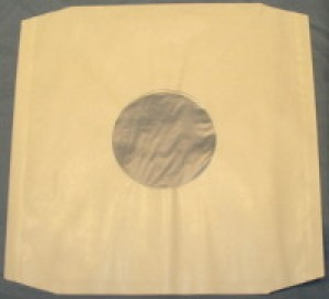 "50 12"" WHITE POLYLINED PAPER RECORD SLEEVES"