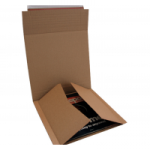 10 SIZE C PEEL N SEAL MULTI DEPTH RECORD OR BOOK CORRUGATED MAILERS
