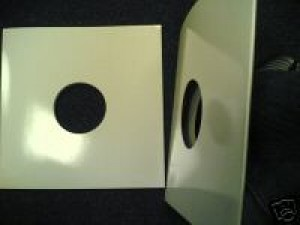 "50 12"" WHITE SPINED ALBUM RECORD SLEEVES"